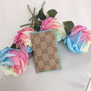 Preloved turquoise Gucci card holder wallet